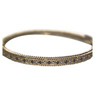 14k Solid Yellow Gold Sapphire & Diamond Bracelet