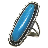 Native American Running Bear Turquoise Ring