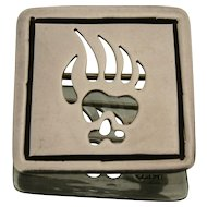 Sterling Silver Rodney Lee Guerro Bear Paw Pin/Brooch