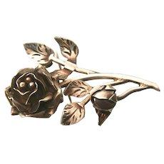 Sterling Silver Rose Brooch/Pin