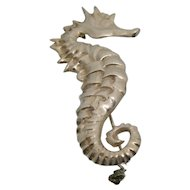 Sterling Silver Seahorse Pin/ Brooch