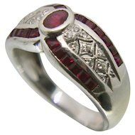 14k Samuel B. Benham Ruby & Diamond Ring