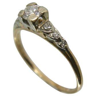 Granat 14k/18k Diamond Wedding Engagement Ring