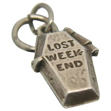 Sterling Silver Lost Weekend Charm w/ removable bottle of Gin inside