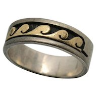 14k Gold & Sterling Silver P. Skeet Wave Ring