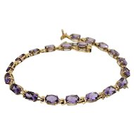 18k Yellow Gold & Amethyst Bracelet
