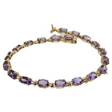 18k Yellow Gold & Amethyst Bracelet