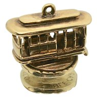 14k Gold S.F. Cable Car Moveable Charm