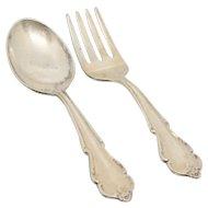 Breton Rose (Sterling 1954) Baby Spoon & Fork Set