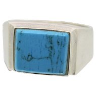 Sterling Silver & Turquoise Stone Ring