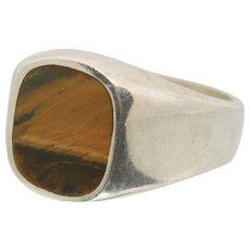 Sterling Silver & Tiger Eye Ring