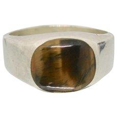 Sterling Silver & Tiger Eye Stone Ring