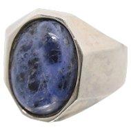Sterling Silver & Dumertierite Ring
