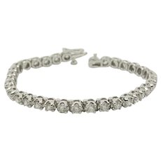 14k White Gold Tennis Bracelet ~5.60 TCW!!!