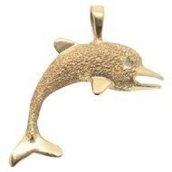 14k Dolphin Charm/ Pendant
