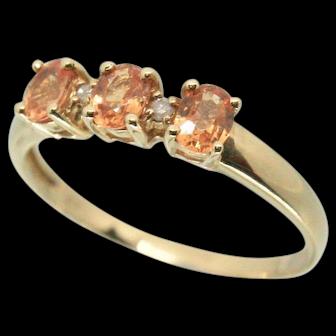 14k Citrine & Diamond Ring~ Size 7