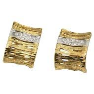18k Roberto Coin Elephant Skin Diamond Earrings