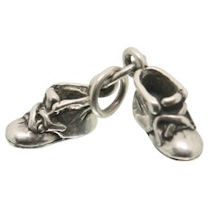 Sterling Silver Baby Shoes Charm
