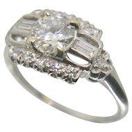Platinum Diamond Wedding/ Engagement/ Ring~ Size 6.25