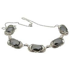 Sorrento Sterling Hematite Choker Style Necklace