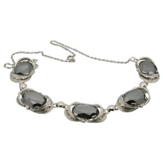 Sorrento Sterling Hematite Choker Style Necklace