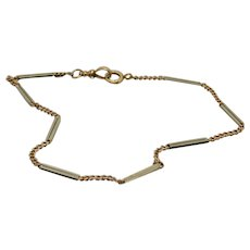 14k Gold National Pocket Watch Chain