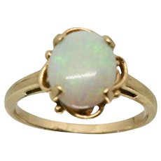 14k Gold 4 Prong Opal Ring~ Size 6.75