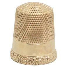 10k Gold Thimble