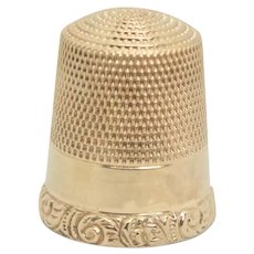 10k Solid Gold Sewing Thimble - 20mm x 15mm