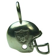 Sterling Silver NFL Raiders Helmut Football Sports Charm