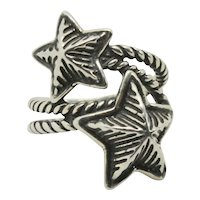 Carolyn Pollack Relios Sterling Wrap Around Star Ring~ Size 6