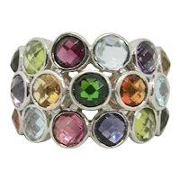 Sterling Multi-Gemstone Ring~ Size 7