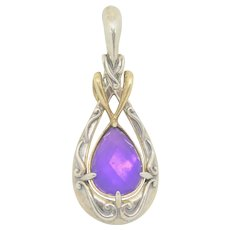 Carolyn Pollack Sterling Silver & Brass Purple Triplet Enhancer
