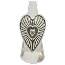 Carolyn Pollack Heart On Hearts Sterling Ring~ Size 6