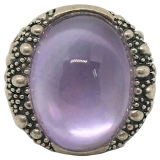 Michael Dawkins Sterling Starry Night Doublet Amethyst Ring~ Size 6