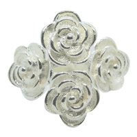 Four Rose Sterling Ring~ Size 7.5