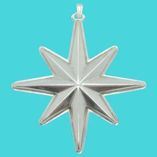 Sterling Reed & Barton 1976 Christmas Star Ornament