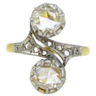 Antique Edwardian Rose cut diamonds ring, circa 1905