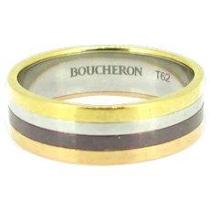 Boucheron Rose Yellow White Gold Quatre Edition Small Band Ring