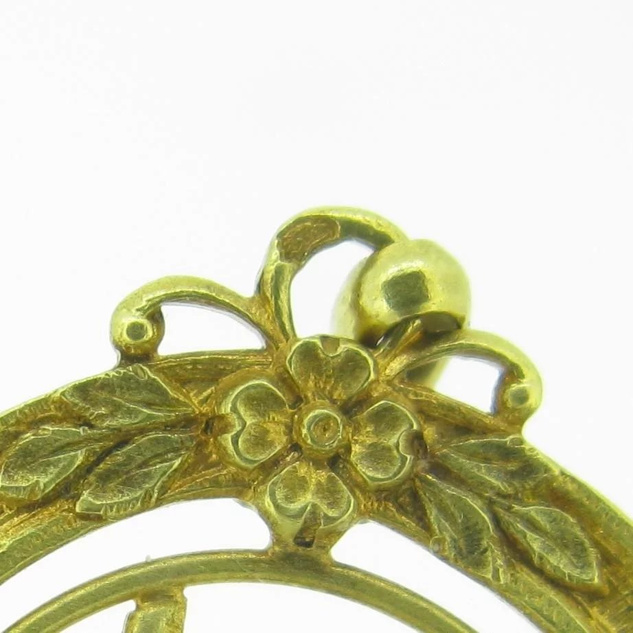 Antique French Lucky 13 Charm Or Pendant 18kt Yellow Gold