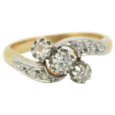 Lovely Edwardian diamonds ring, 18kt gold and platinum~ c.1910 - Red Tag Sale Item