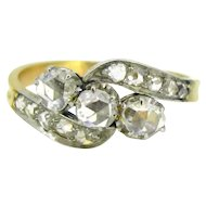 Edwardian diamonds ring, 18kt gold and platinum~ c.1910