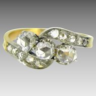 Edwardian diamonds ring, 18kt gold and platinum~ c.1910