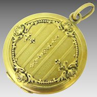 Antique French Art Nouveau Locket, 18kt gold, c.1900