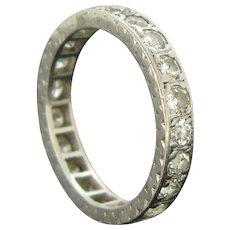 Art Deco Platinum Diamond Eternity Ring, France circa 1925