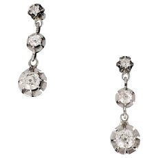 Art Deco Diamonds earrings, 18kt gold and platinum, circa 1930