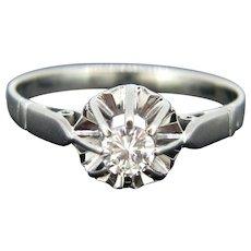 Art Deco Diamond Ring, 18kt White Gold, France
