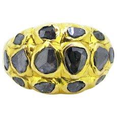 Lovely Georgian Rose Cut Diamonds Ring, 18kt gold, early 19th century