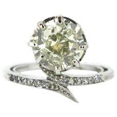 Antique FRENCH Belle Epoque / Edwardian diamonds ring, platinum, c.1910