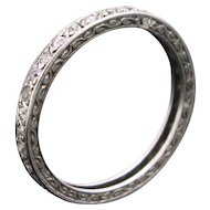 Art Deco Platinum Diamonds Eternity ring, France circa 1925